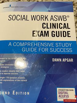 Dawn Apgar Social Work ASWB Clinical Exam Guide for Sale in Vancouver,  WA