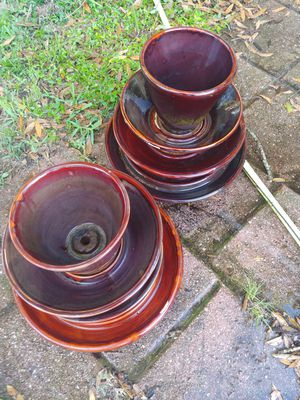 2 multi-level plant pots for Sale in Fort Pierce, FL
