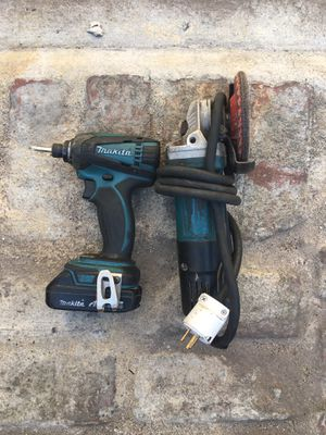 Makita drill. Battery grinder for Sale in Los Angeles, CA