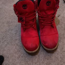 Red Camp Timberland Boots for Sale in Las Vegas,  NV