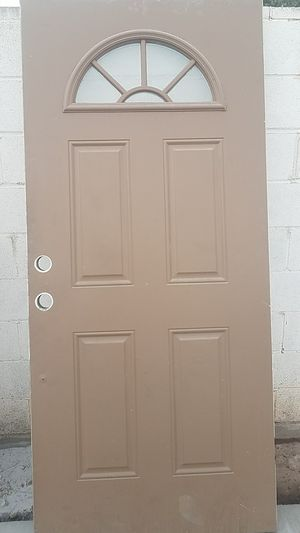36 x 80 entry door brown and white for Sale in Phoenix, AZ