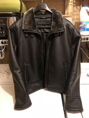 Marc New York Andrew Marc Leather Luxury Jacket Fur lining for Sale in Bethesda, MD