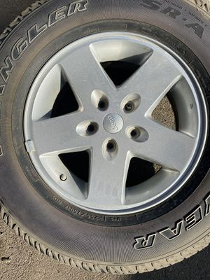 JEEP WRANGLER RIMS AND NEW TIRES for Sale in San Diego, CA