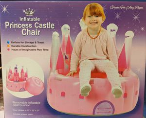 New in Box Inflatable Princess Castle Chair for kids for Sale in Souderton, PA