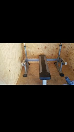 TuffStuff flat Bench with spotter arms for Sale in Stockton, CA