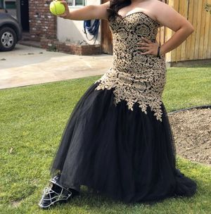 Black & Gold Prom Dress XL for Sale in Downey, CA