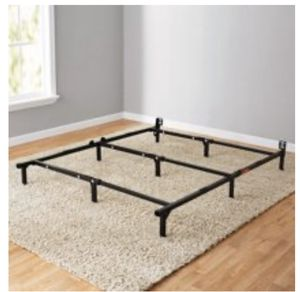 "Mainstays 7"" Adjustable Bed Frame, Black Steel full or queen for Sale in Atlanta, GA"