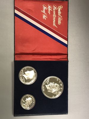 2 set of 1776-1976 bicentennial 3 coin silver proof set for Sale in Rowlett, TX