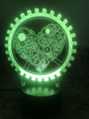 Nice heart machine 3d lamp ! for Sale in Las Vegas, NV