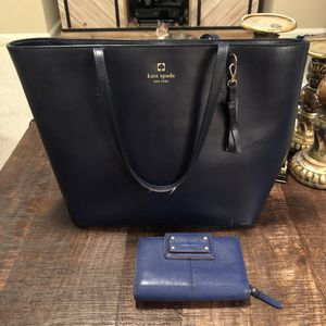 Kate Spade Blue Purse and Leather Wallet for Sale in Newnan, GA
