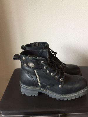 Harley Davidson Ladies Motorcycle Boots Size 8 (run a little big) for Sale in Bulverde, TX