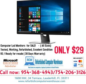 Computer Monitors for SALE - From $29 for Sale in Fort Lauderdale, FL