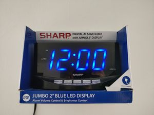 Alarm clock bedside clock for Sale in Norristown, PA