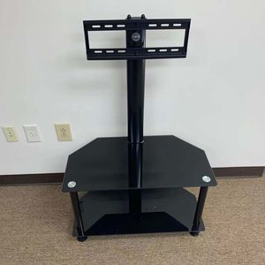 Heavy Duty Glass Floor Stand Up TV Stand Up To 50 Inch, Media Entertainment Center. for Sale in Norcross, GA