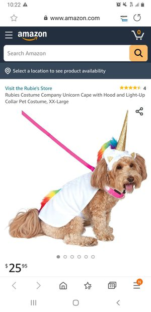 Unicorn dog costumr for Sale in Fontana, CA