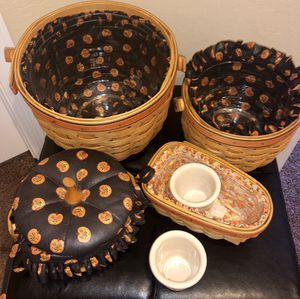 Longaberger Collection of Halloween Baskets for Sale in Las Vegas, NV