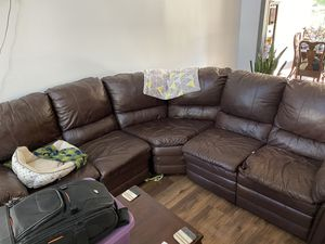 3 Piece Leather Sectional for Sale in Nashville, TN
