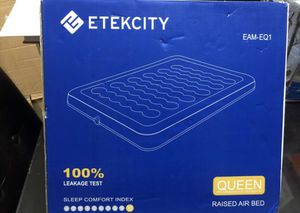 Etekcity Air Mattress with Pump, Queen Inflatable Mattress Blow Up Air Bed for Camping, Guest, Hiking for Sale in Woodland Hills, CA