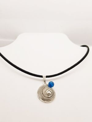 Silver Spiral Choker with Blue Agate for Sale in New Bern, NC