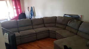 Olive green sectional couch (Local inquiries only) for Sale in Linden, NJ