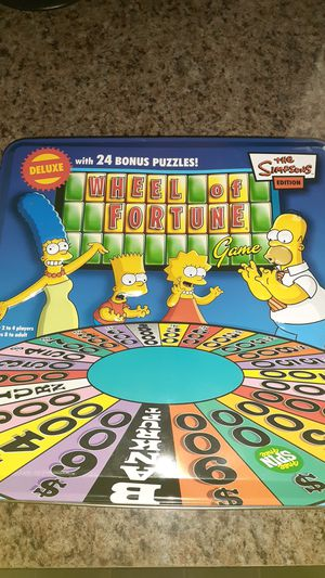 Kids Simpsons Wheel of Fortune game shipping available for Sale in Manheim, PA