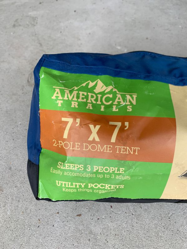 2 Pole Dome Tent - 7' by 7'