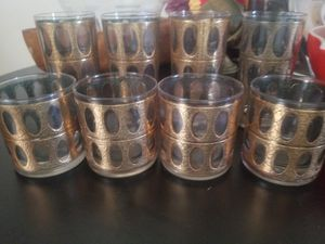 PERFECT MID CENTURY RAISED SURFACE COCKTAIL GLASSES for Sale in San Diego, CA