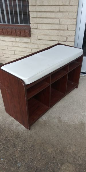 Padded Bench With Shelves for Sale in Lancaster, TX