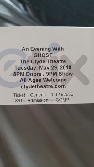 GHOST tickets for Sale in Fort Wayne, IN