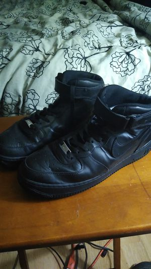Used Size 12 Nike Air Force 1 Mid Black Good Condition for Sale in Beaver Dams, NY