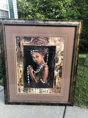 Picture frame African princess for Sale in Reisterstown, MD