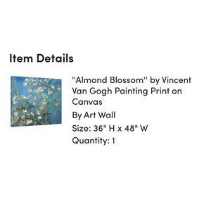 "Van Gogh ""Almond Blossom"" Print Canvas for Sale in Washington, DC"