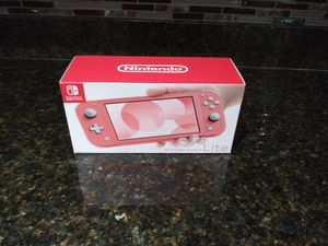 Brand New Coral/Pink Nintendo Switch Lite for Sale in Stockton, CA