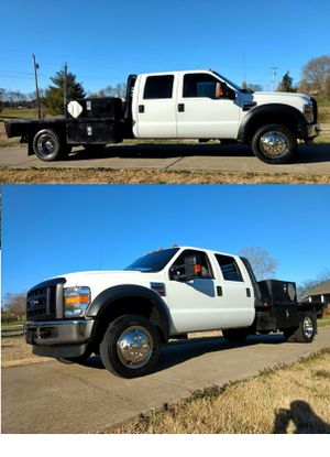 F550 Power stroke Diesel Crew4x4 - ford - Dually - 4x4 with Custom Flatbed Dually Crew Aftermarket Deleted DPF and EGR for better MPG for Sale in Austin, TX