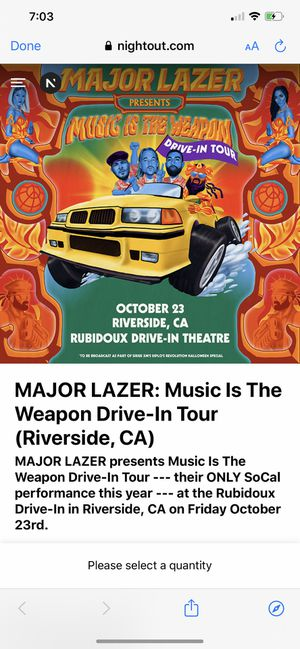 Major Lazer for Sale in Santa Ana, CA
