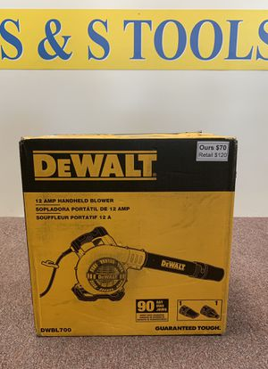 New 12amp Dewalt corded blower - model DWBL700 for Sale in Waltham, MA