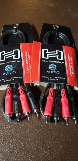 Hosa pro audio rca to rca stereo wires for Sale in Port Griffith, PA