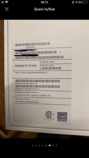 2018 MacBook Air for Sale in Chula Vista, CA