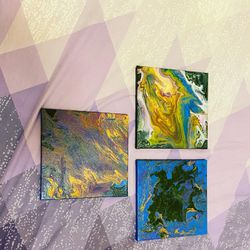 Buy All 3 Canvas Painting For $10 for Sale in Medford,  MA