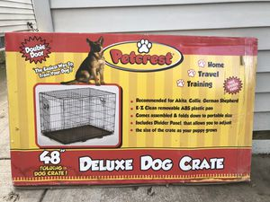 """Petcrest 48"""" Folding Deluxe Dog Crate for Sale in Lockport, IL"""