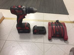 Milwaukee drill 2 batteries and charger for Sale in Silver Spring, MD