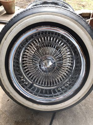 13x7 Lowrider Spoke Wire Wheels for Sale in Houston, TX