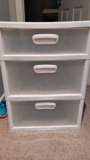 3 drawer plastic storage for Sale in Northglenn, CO