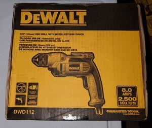 "DeWALT 3/8"" Keyless Chuck, Electric Drill for Sale in Burlington, NJ"
