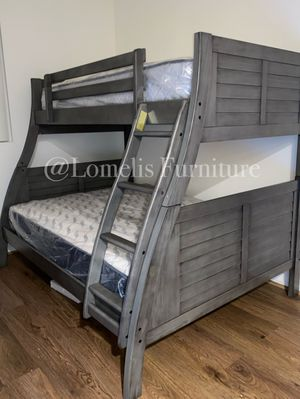 Twin/full bunk beds with mattress included for Sale in Chino, CA