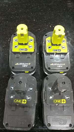 Ryobi 18v Batteries - for Sale in Hanover Park, IL