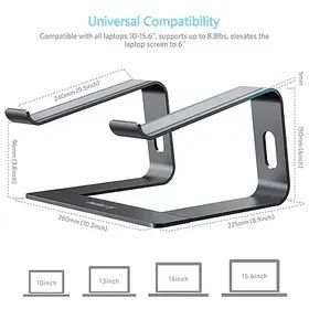 Nulaxy Laptop Stand, Ergonomic Aluminum Laptop Computer Stand, Detachable Laptop Riser Notebook Holder Stand Compatible with MacBook Air Pro, Dell XPS for Sale in West Chicago, IL