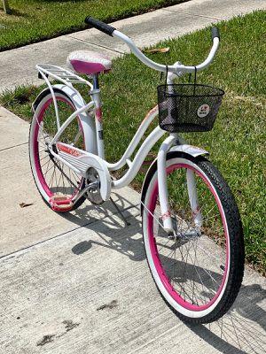 "🦄 Comfort Schwinn Ladies 24"" Beach Cruiser Bike- Small frame-with basket and rear rack 🦄 for Sale in Boca Raton, FL"