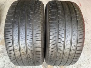 Two tires 275/40/19 Pirelli P-Zero with 65% left great pair for Sale in South Miami, FL