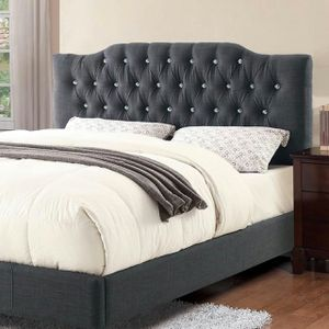 Full Size Bed Frame, Blue Grey Color for Sale in Fountain Valley, CA